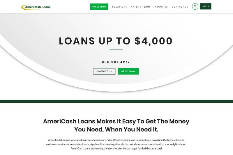 AmeriCash Loans Brand-New Website Launch