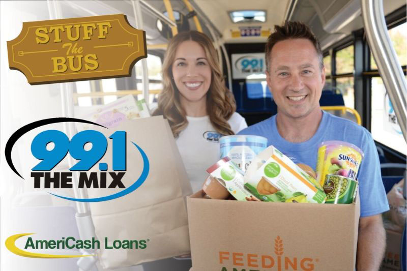 "AmeriCash Loans and 99.1 The Mix partner to ""Stuff The Bus"" Benefiting Feeding America Eastern Wisconsin!"